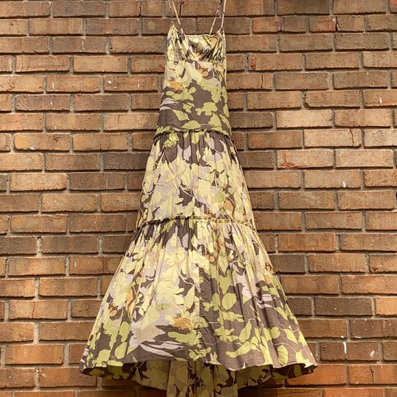 BCBG MaxAzria Floral Print Tiered Maxi Dress